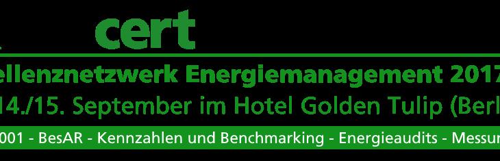 GUTcert Exzellenznetzwerk Energiemanagement 2017 – am 14./15. September in Berlin