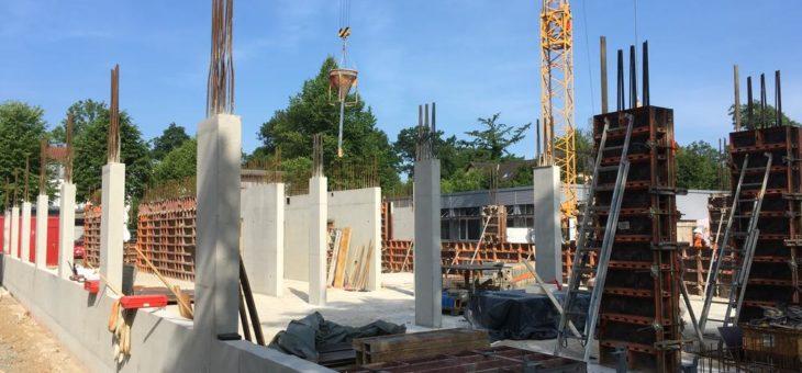 Bau schreitet planmäßig voran