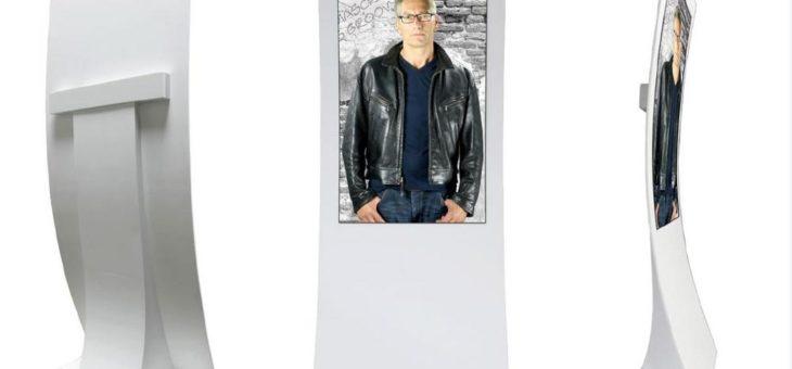 Neuheit von MediaScreen GmbH –  ORGANIC DESIGN OLED STELE aus CORIAN®