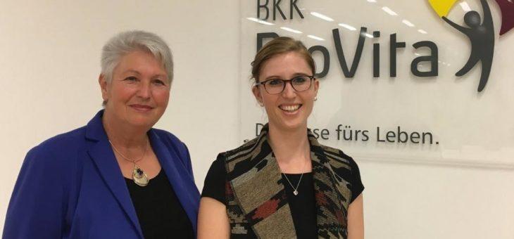 Vorträge über häusliche Pflege bei der BKK ProVita