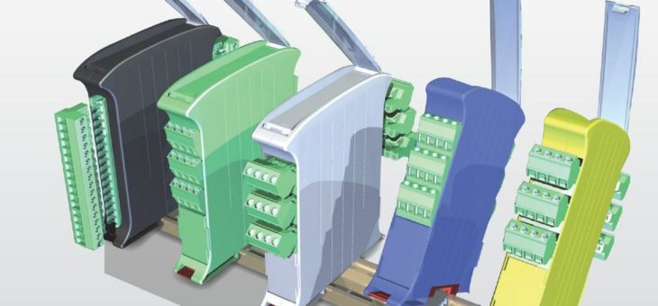 Platzsparende vertikale DIN-Rail-Gehäuse von Italtronic
