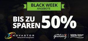 Black Week bei NovaStor mit Händlerrabatten für Backup & Cloud Lösungen