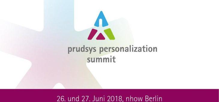 Reinforcing retAIl: Termin für prudsys personalization summit 2018 steht fest