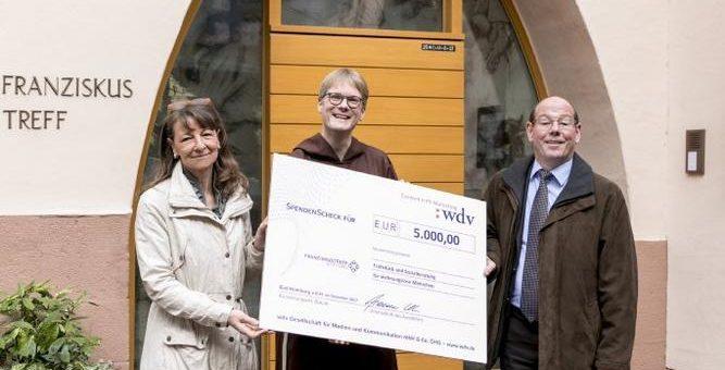 """wdv-Gruppe spendet im Rahmen der Weihnachtsaktion """"Spenden statt Geschenke"""" auch in diesem Jahr wieder 10.000 Euro für gemeinnützige Zwecke"""