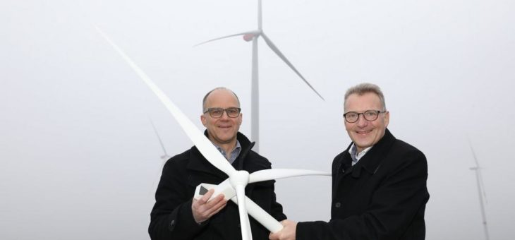 Drei neue Windräder der NEW in Linnich versorgen 6.300 Haushalte mit Strom