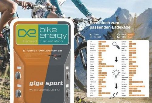 Shop & Charge bei Gigasport!