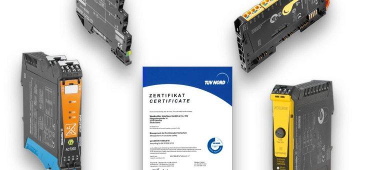 Weidmüller erhält das Functional Safety Management Zertifikat vom TÜV NORD