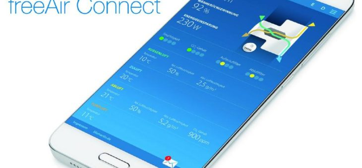 freeAir goes WLAN: Service-Infos und Lüftungs-Steuerung direkt übers Smartphone
