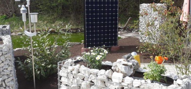 Solar Ideen für Garten – Solarzaun Solartisch Solarcarport und die Energiesäule