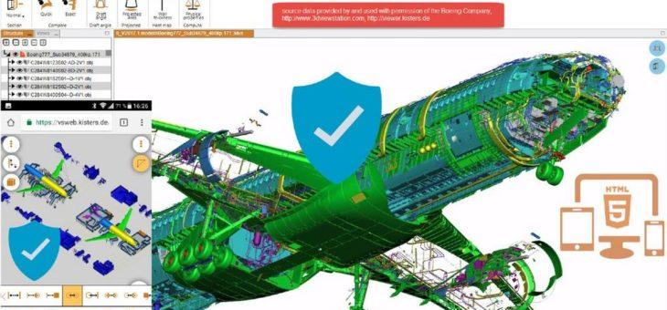 KISTERS 3DViewStation erlaubt sichere und schnelle Kommunikation von extrem komplexen 3D CAD Daten