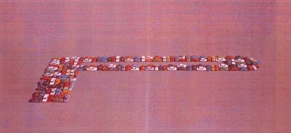 41 GT3 Renner stellen das bekannte P Lungo-Motiv aus dem Jahr 1978 nach