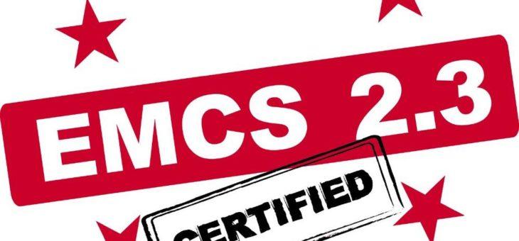 OpenTAS für EMCS 2.3 zertifiziert