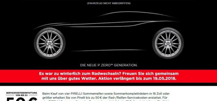 Witterungsbedingte Verlängerung der Pirelli Sommer-Promotion 2018