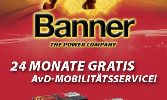 Erfolgreiche Partner: AvD und Banner Batterien