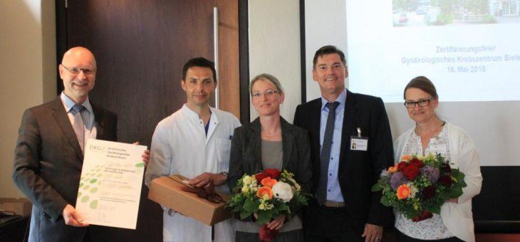 Zertifizierung des Zentrums für Frauenheilkunde zum Gynäkologischen Krebszentrum am Klinikum Bielefeld Mitte