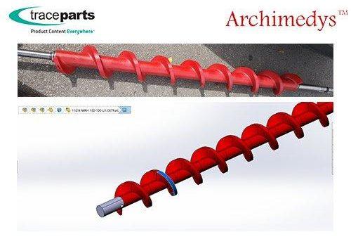 Archimedys-Exventys arbeitet nun mit TraceParts zusammen, um für seine Bauteile zu werben