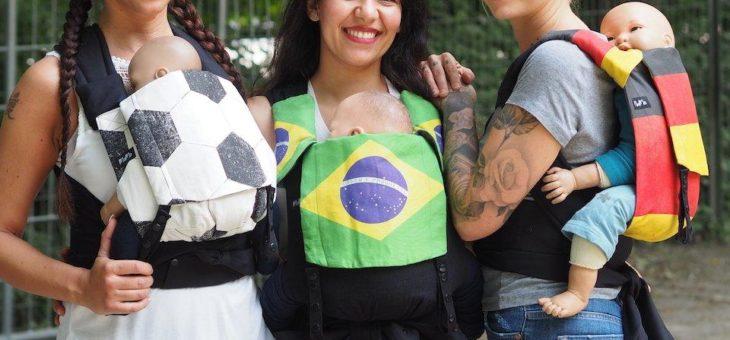 Schick mit Baby zur Fußball WM