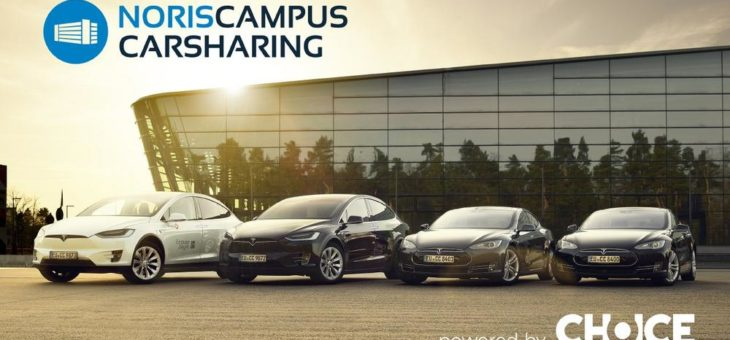 Electro-Mobility as a Service in Nürnberg: Noris Campus Carsharing  powered by Choice