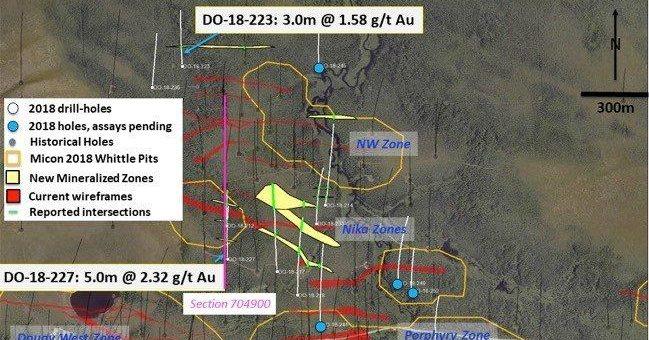 Maple Gold grenzt bei Stepout-Bohrungen in den Zonen Nika und NW weitere Mineralisierungen ab