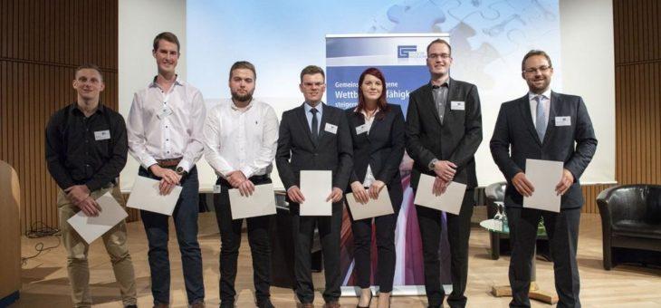 Jahrestagung Massivumformung 2018 – erfolgreiche Nachwuchsprämierungen  Förderpreis 2018, drei Stipendien, drei Azubi-Awards