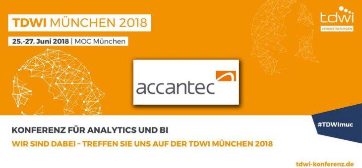 Lernen Sie die accantec group als Komplettanbieter für Business Intelligence, Data Analytics und SAP ERP Finance auf der TDWI Konferenz München kennen