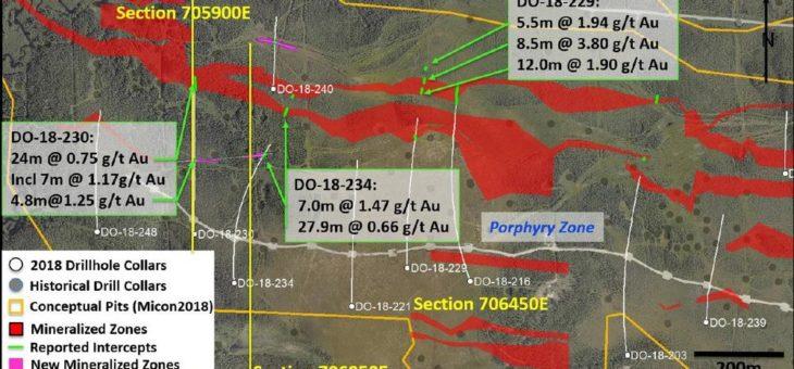 Maple Gold durchteuft mehrere vererzte Zonen und erweitert Vererzung in der Tiefe im westlichen Zentralbereich des Ressourcengebietes