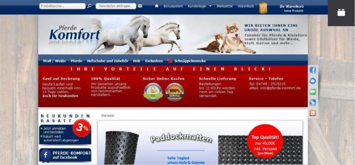 Willkommen bei pferde-komfort.de
