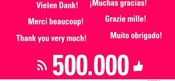 VITA in Feierlaune: Danke an 500.000 Facebook-Fans