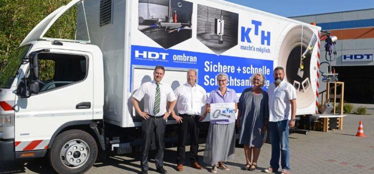 Hanke Kanaltechnik erwirbt Spezial-LKW für Schachtsanierung von HDT