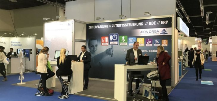 AIDA ORGA stellt aus – Fachmesse Zukunft Personal Europe, Köln ( 11.-13. September 2018)