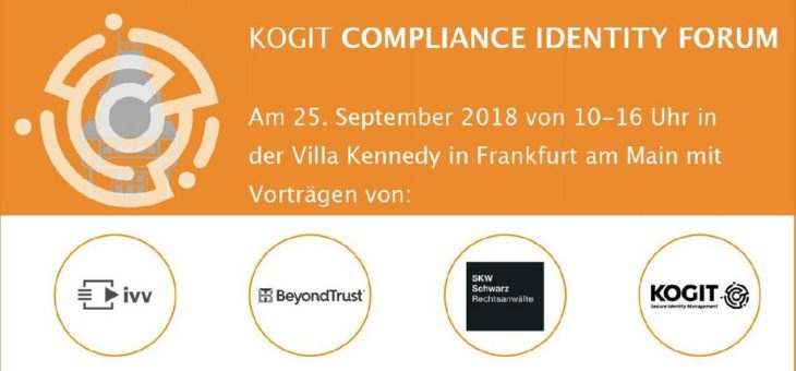 Final Call zum KOGIT Compliance Identity Forum am 25.9.2018