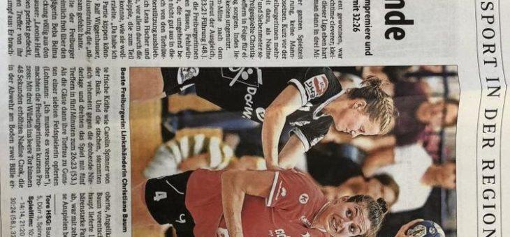adensio – Hauptsponor der Handballmannschaft HSG Freiburg Damen 1 – Erfolgreicher Start in die neue Saison