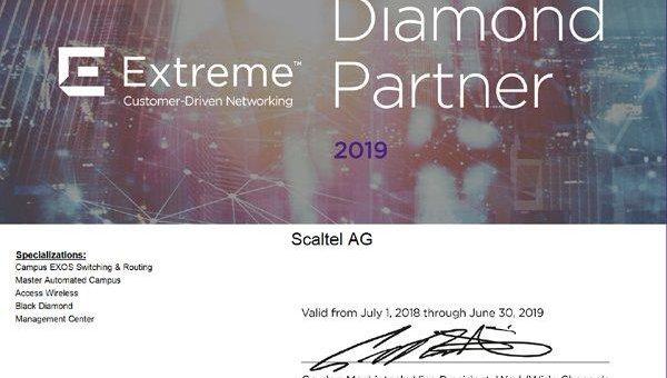 SCALTEL AG erneut zertifizierter Diamond-Partner der Extreme Networks