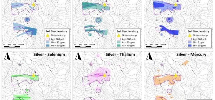 Aurania identifiziert Gebiete mit Metallanreicherung, die das epithermale Ziel bei Yawi verfeinern