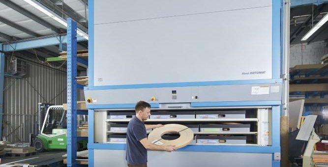 Mit dem Rotomat® Lagerlift wurden Arbeitswege optimiert und eine ergonomischere Arbeitsumgebung für die Mitarbeiter geschaffen