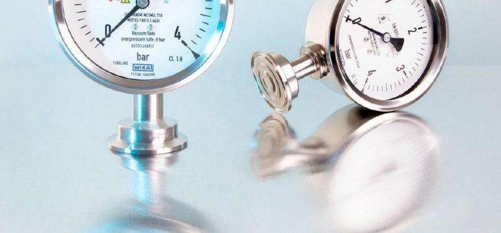 Hygienic-Plattenfedermanometer auch mit ATEX-Ausführung
