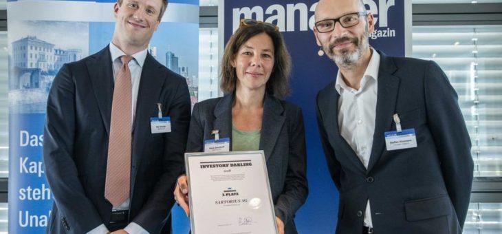 Dritter Platz für Sartorius bei Wettbewerb für Finanzmarktkommunikation