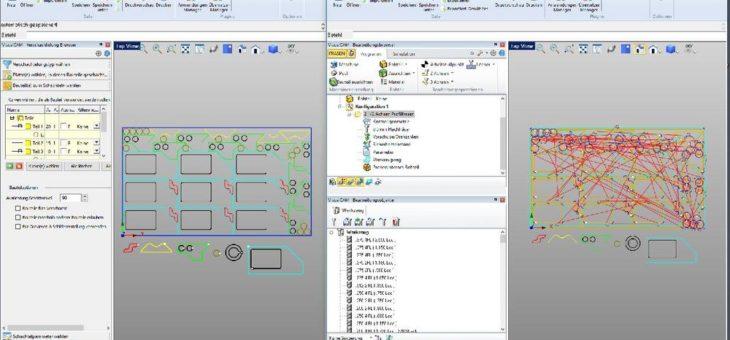 VisualMILL Xpress und VisualNEST – 2- bis 2½-Achs-Fräsen und automatisches Schachteln im Bundle