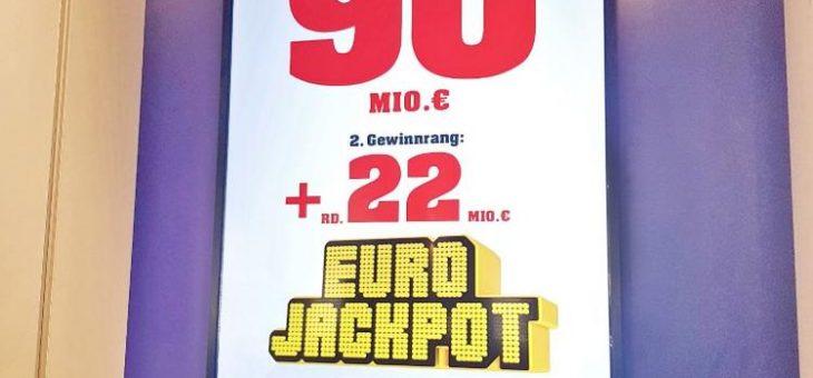 Mega-Jackpot von 90 Millionen Euro geht in die Verlängerung – Drei deutsche Millionäre bei der heutigen Ziehung