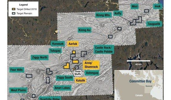 Auryn bohrt goldhaltiges hydrothermales System in der Committee Bay