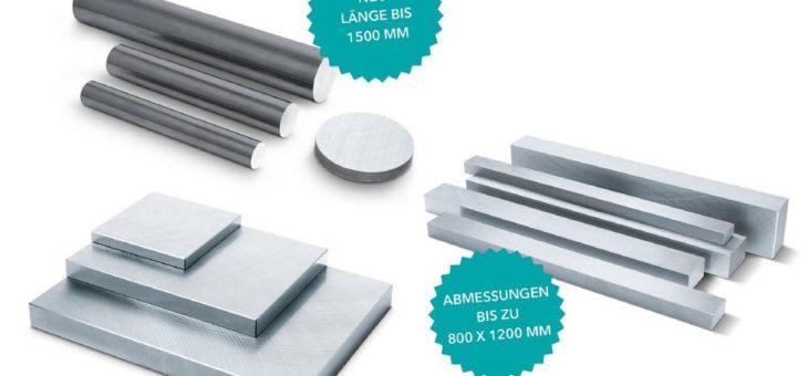 Meusburger: 5.000 neue Größen bei Platten und Stäben