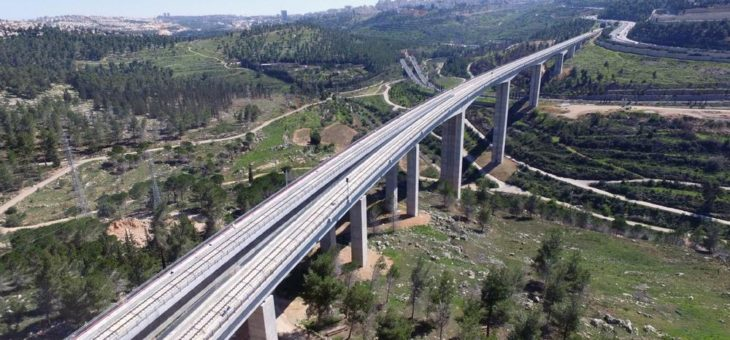 Ersteinsatz der Festen Fahrbahn Bögl in Israel