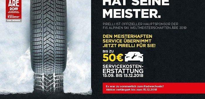 Pirelli verlängert Winter-Promotion 2018 bis zum 15. Dezember