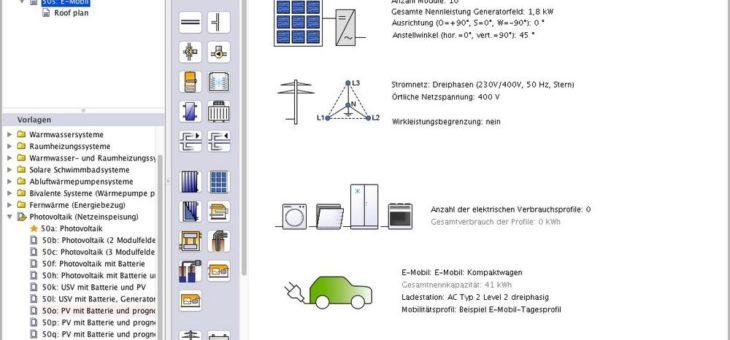 E-Mobility in Polysun 10.0