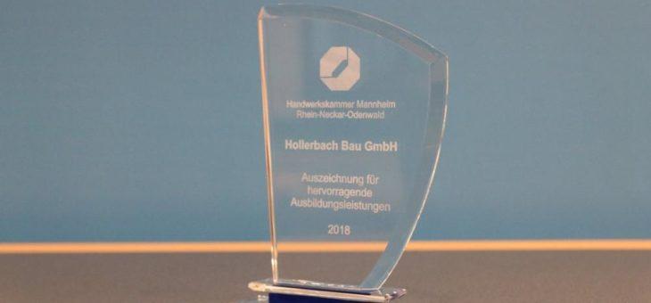 Hollerbach Bau GmbH aus Hardheim erhält Ausbildungs-Stele