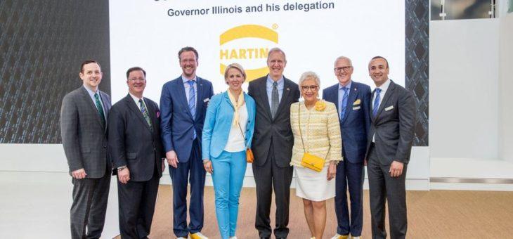 US-Gouverneur Rauner informiert sich bei HARTING