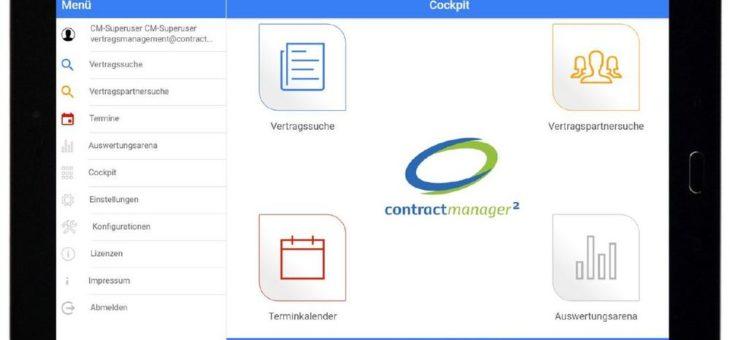 Vertragsverwaltung contractmanager² nun auch mobil!