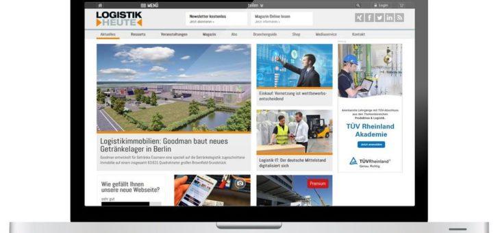Neuer Webauftritt von LOGISTIK HEUTE bietet  verbesserte Funktionen und mehr für Abonnenten