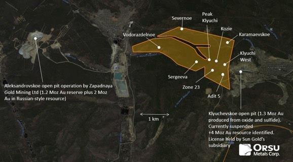 Orsu Metals erweitert die Zone 23 erneut von 740 auf 900 Meter und beginnt gemeinsam mit Wardell Armstrong International mit einer ersten Ressourcenschätzung für sein Goldprojekt Sergeevskoe in Russland