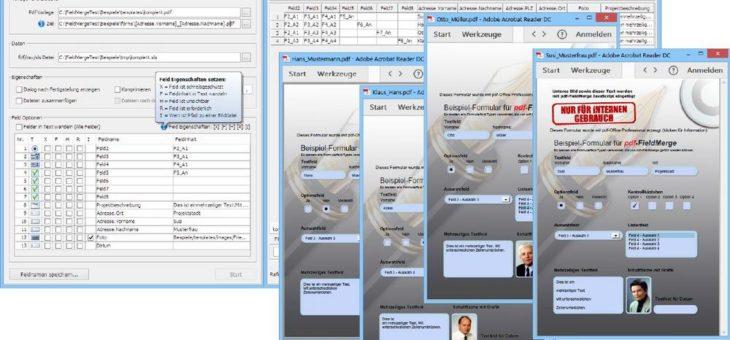 pdf-FieldMerge – das führende Werkzeug zum Befüllen von PDF-Formularfeldern mit erweiterten Funktionen